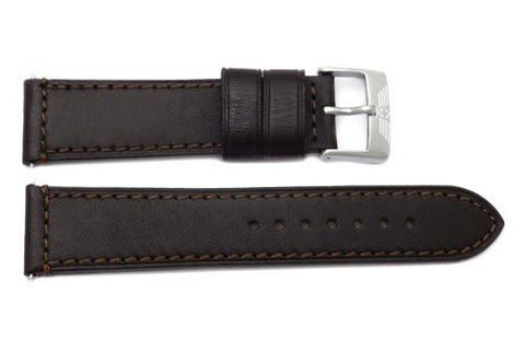 Swiss Army Genuine Smooth Leather Brown Airboss Mach 3 Series 22mm Watch Band