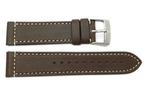 Swiss Army Genuine Smooth Leather Brown Airboss Mach 3 Chrono Series 22mm Watch Strap