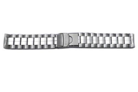 Seiko Flight Chronograph Stainless Steel 21mm Push Button Fold-Over Clasp Watch Band