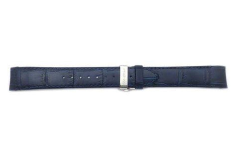 Citizen Eco-Drive Blue Alligator Grain Textured Leather Deployant Clasp 20mm Watch Strap