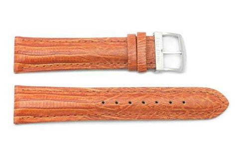 Citizen Genuine Deep Orange Textured Leather Lizard Grain 20mm Watch Strap