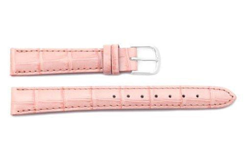 Citizen Pink Leather Alligator Grain 14mm Thin Ladies Watch Strap