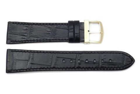 Citizen Eco-Drive Genuine Black Leather Alligator Grain 21mm Watch Strap