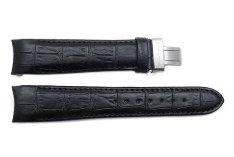 Citizen Eco-Drive Calibre Black Leather Alligator Grain Butterfly Clasp 21mm Watch Strap