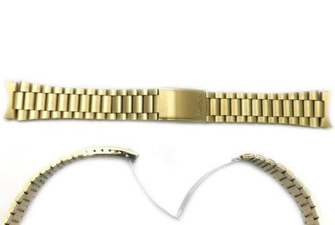 Seiko Gold Tone Stainless Steel 19mm Fold-Over Clasp Watch Bracelet