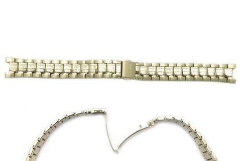 Seiko Gold Tone Stainless Steel 15/7mm Ladies Coutura Push Button Fold-Over Clasp Watch Bracelet