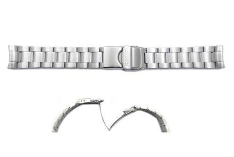 Citizen 20mm Silver Tone Stainless Steel Watch Bracelet