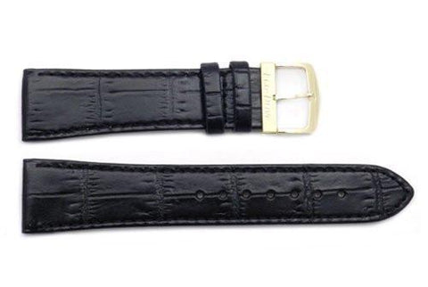Citizen 21mm Eco-Drive Black Alligator Grain Watch Strap