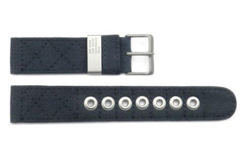 Genuine Citizen 20mm Eco-Drive Charcoal Canvas Watch Strap