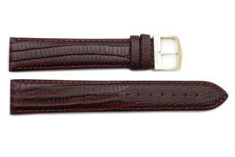 Citizen 20mm Eco-Drive Brown Lizard Grain Long Watch Strap