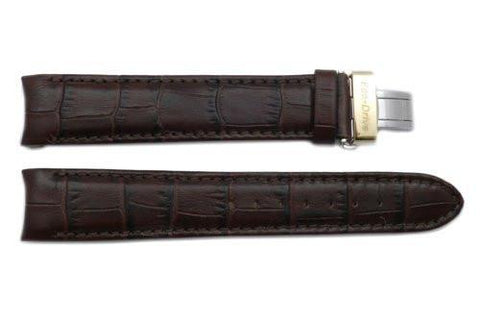 Citizen 20mm Eco-Drive Dark Brown Alligator Grain Watch Strap