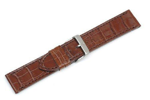 Genuine Swiss Army Chrono Classic Diamond Brown Leather Strap