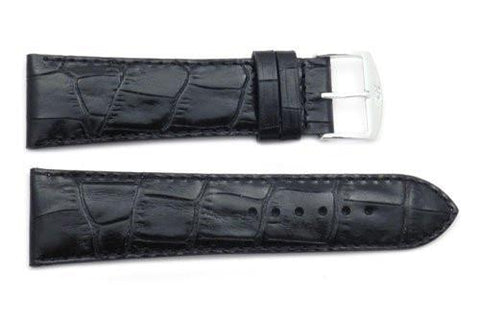 ZRC Genuine Leather Alligator Grain Waterproof Anti-Allergic Watch Strap