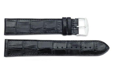 ZRC Genuine Leather Alligator Grain Waterproof Anti-Allergic Extra Extra Long Watch Strap