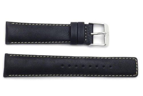 ZRC Genuine Smooth Soft Washable Handmade Cow Leather Watch Band