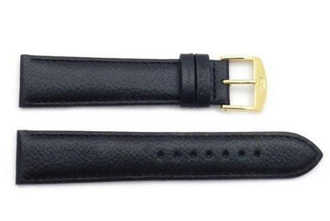 ZRC Textured Soft Calfskin Leather Anti-Allergic Watch Band