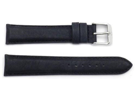 ZRC Genuine Smooth Soft Handmade Bull Leather Anti-Allergic Watch Strap