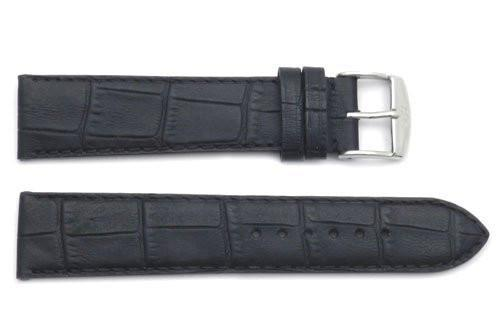 ZRC Genuine Handmade Calfskin Leather Crocodile Grain Watch Strap