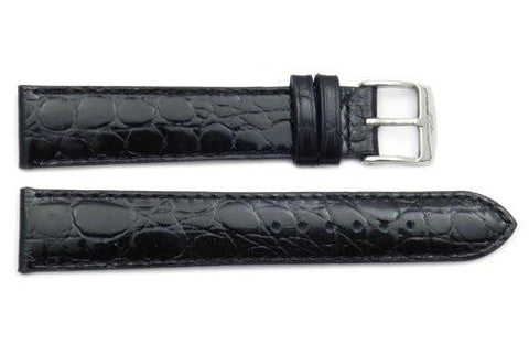 ZRC Genuine Leather Crocodile Grain Anti-Allergic Waterproof Watch Strap