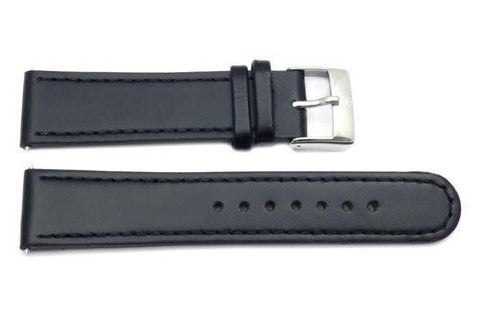 Swiss Army Genuine Black Smooth Leather 22mm Infantry Chrono Watch Strap
