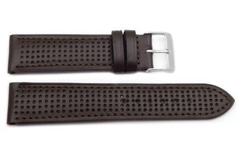 Genuine Brown Leather Sweat Resistant Anti-Allergic Watch Strap