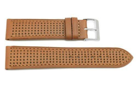 Genuine Tan Leather Sweat Resistant Anti-Allergic Watch Strap