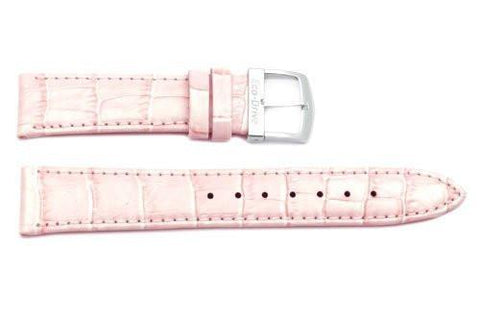 Citizen Pink Leather Alligator Grain 18mm Thin Ladies Watch Strap