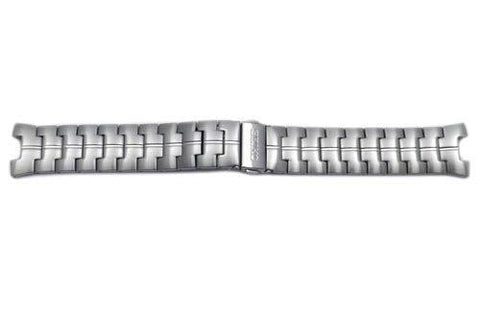 Seiko Stainless Steel Push Button Fold-Over Clasp 23mm Watch Bracelet