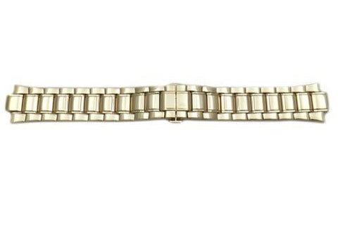 Seiko Gold Tone Stainless Steel Butterfly Clasp 21mm Watch Bracelet