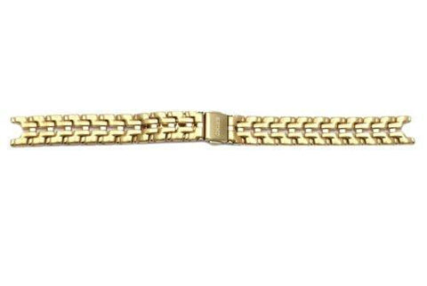 Seiko Le Grand Sport Gold Tone Stainless Steel 12mm Push Button Clasp Ladies Watch Bracelet