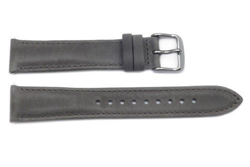 Fossil Gray Smooth Leather 18mm Watch Strap