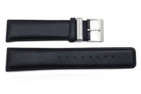 Kenneth Cole Genuine Smooth Black Leather Square Tip 22mm Watch Strap