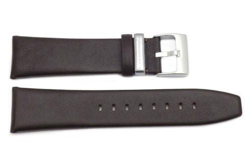 Kenneth Cole Genuine Smooth Brown Leather 24mm Watch Strap