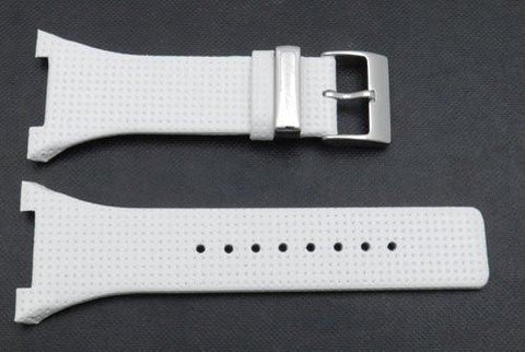 Kenneth Cole Genuine Smooth White Leather 37mm Watch Band