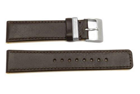 Kenneth Cole Genuine Smooth Brown Leather Square Tip 22mm Watch Band