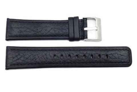 Kenneth Cole Genuine Textured Leather Square Tip 22mm Watch Band
