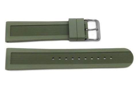 Genuine Swiss Army Dive Master 500 Series 21mm Green Rubber Watch Band