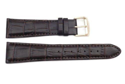 Citizen Brown Leather Alligator Grain 23mm Watch Band
