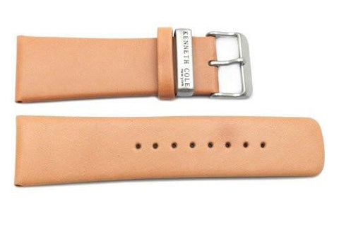 Kenneth Cole Genuine Smooth Leather Camel 28mm Wide Watch Strap