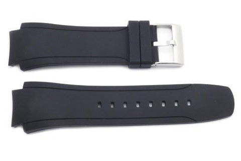 Kenneth Cole Black Rubber 28/20mm Watch Strap