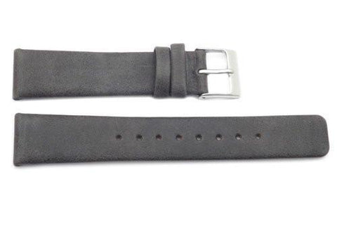Kenneth Cole Reaction Genuine Smooth Gray Leather Square Tip 18mm Watch Band