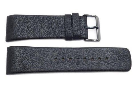 Kenneth Cole Reaction Genuine Textured Leather Black 27mm Watch Band