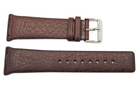 Kenneth Cole Genuine Textured Leather Dark Brown Square Tip 26mm Watch Band
