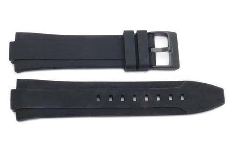 Kenneth Cole Black Polyurethane 24/12mm Watch Band