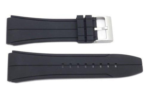 Kenneth Cole Black Polyurethane 25mm Watch Strap