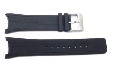 Kenneth Cole Black Polyurethane 26/14mm Watch Band
