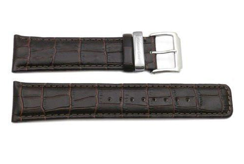 Genuine Kenneth Cole Brown Alligator Grain 22mm Leather Watch Band