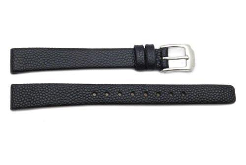 Kenneth Cole Genuine Textured Black Leather 12mm Watch Band