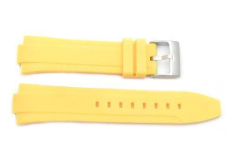 Kenneth Cole Yellow Polyurethane 24/12mm Watch Strap
