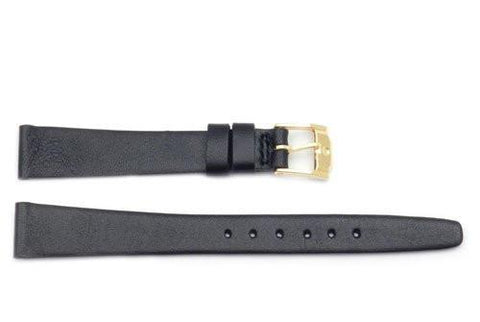 Movado Genuine Nordic Calfskin Leather Black 13mm Watch Band